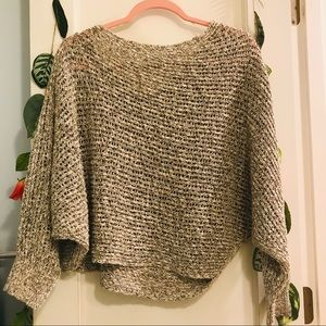 Free People Knit 3/4 sleeve Slouchy Sweater